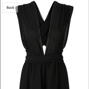 Dresses & Skirts - Black chiffon romper NWT